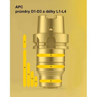 Upínač APC 14, A-70 JIS B6339-BT*-AD40 kruhová dosedací plocha Albrecht