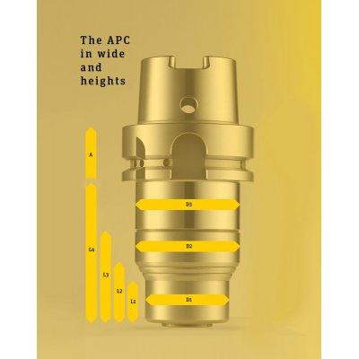 Upínač APC 14, A-92 2-14mm DIN 69893-HSK-A50 Albrecht