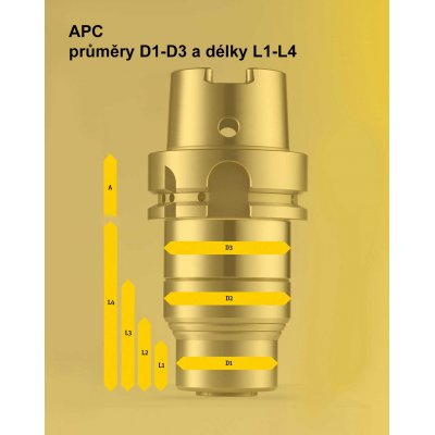 Upínač APC 25, A-102 DIN 69871-AD50 Albrecht