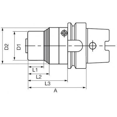 Upínač APC 20, A-92, DIN 69893 2-20mm HSK-63A Albrecht