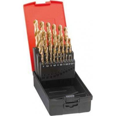 Sada spirálových vrtáků DIN338 HSS vybrušovaný TiN typ N 1-5,9mm FORMAT