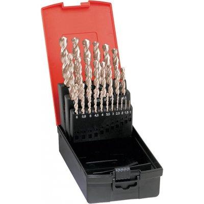 Sada spirálových vrtáků DIN338 HSS-Co5 vybrušovaný typ VA 1,0-10mm zvyšování o 0,5 FORMAT