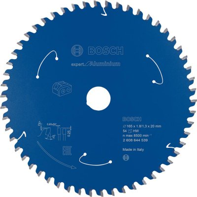 List kotoucové pily HM 165x1,8/1,3x20 Z54 BoschExpert for Alu