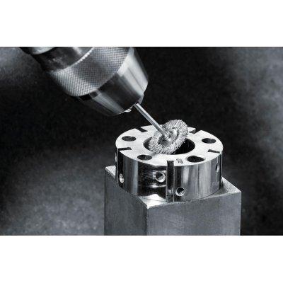 Miniaturni kul.kartác ocel.drát vln. 19x0,1mm Lessmann - obrázek