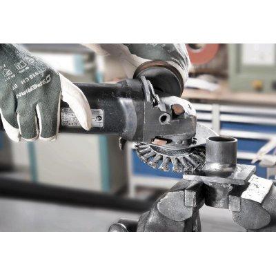 Kuzel.kartác ocel.drát 115x12mm splét.0,5mm Lessmann - obrázek