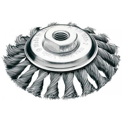 Kuzel.kartác ocel.drát 115x12mm splét.0,5mm Lessmann