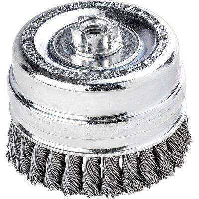 Hrn.kartác, ocel.drát splét. 100x0,5mm Lessmann