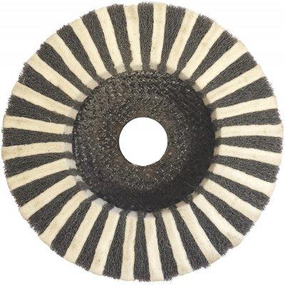 Lamel.brus.kotouc komb. 125mm plst.brusné rouno Format - obrázek