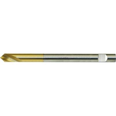Návrtový vrták NC dlouhý DIN1835 HSSCo5 TiN tvar B 90° válcová stopka 10,0mm FORMAT